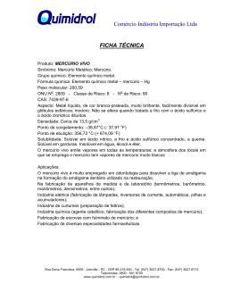Comércio Indústria Importação Ltda FICHA TÉCNICA