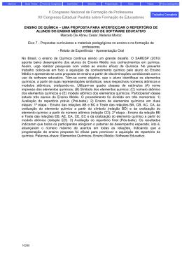 Uma proposta de avaliação de repertório de leitura para a