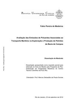 Fabio Pereira de Medeiros Avaliação das Emissões de