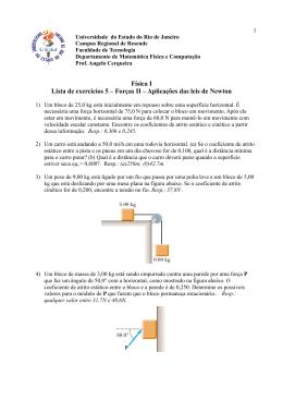 Lista 5 - Física I