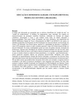 um mapeamento da produção científica brasileira