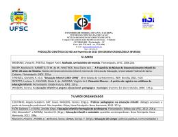 Lista com as produções científicas do NDI até fevereiro de 2013.