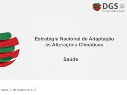 Estratégia Nacional de Adaptação às Alterações Climáticas Saúde