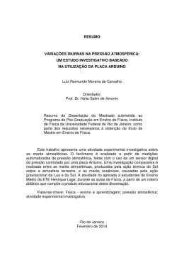 Resumo - Instituto de Física / UFRJ