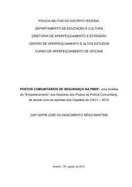 Monografia – CAP JOSÉ MARTINS CAO I_2010