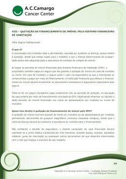 viii – quitação de financiamento de imóvel pelo sistema financeiro