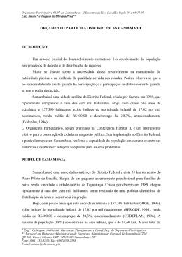 orçamento participativo 96/97 em samambaia/df