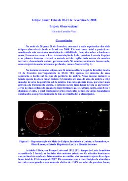 Eclipse Lunar Total de 20-21 de Fevereiro de 2008