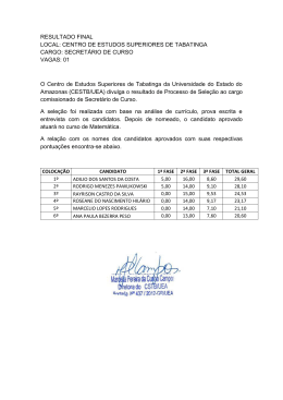 RESULTADO FINAL LOCAL: CENTRO DE ESTUDOS
