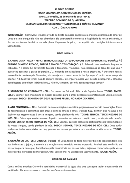 III Domingo da Quaresma - Arquidiocese de Brasília