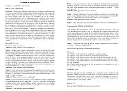 Liturgia de Recordação de Confirmação – Liturgo (folder)