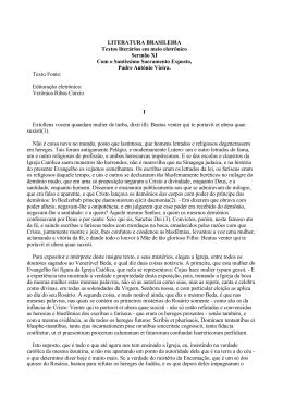 LITERATURA BRASILEIRA Textos literários em