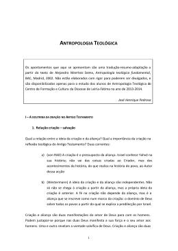 antropologia teológica - Centro de Cultura e Formação Cristã