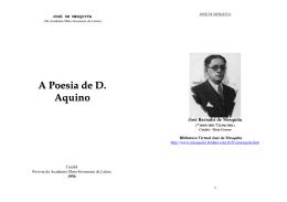 A Poesia de Dom Aquino - Biblioteca Virtual José de Mesquita