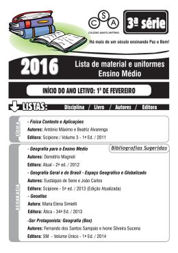 3ª Série.cdr - Colégio Santo Antônio