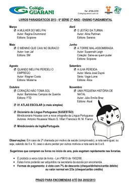 LISTA DE LIVROS PARADIDÁTICOS_7ºANO