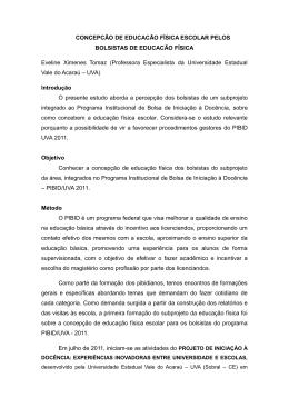 CONCEPCÃO DE EDUCACÃO FÍSICA ESCOLAR PELOS
