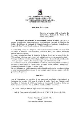 Resolução nº 1, de 25 de fevereiro de 2008