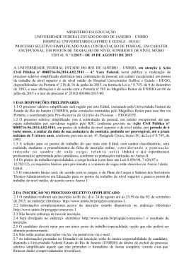MINISTÉRIO DA EDUCAÇÃO UNIVERSIDADE FEDERAL