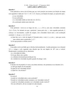 LISTA DO CAPÍTULO 4