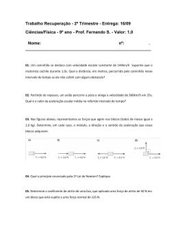 16/09 Ciências/Física - 9º ano - Prof. Fernando S.