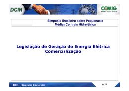 1. Incentivos para o Autoprodutor de Energia Elétrica