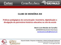 CLUBE DE MEMÓRIA XIX