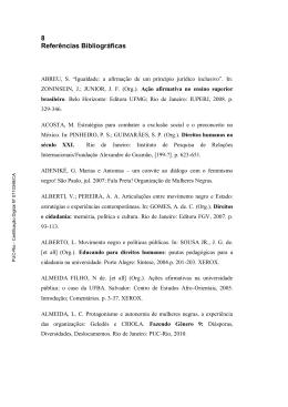 Referências Bibliográficas - Divisão de Bibliotecas e Documentação