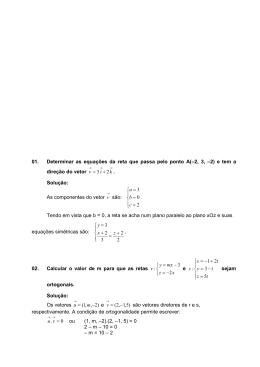 EXERCÍCIOS RESOLVIDOS - AULAS 05 e 06