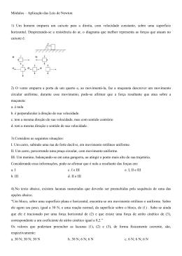 Módulos - Aplicação da 3ª Lei de Newton