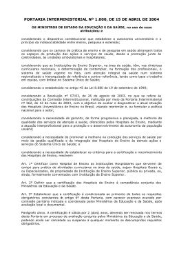 PORTARIA INTERMINISTERIAL Nº 1000