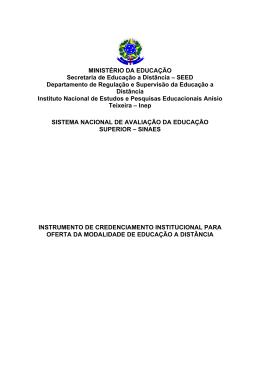 MINISTÉRIO DA EDUCAÇÃO Secretaria de Educação a