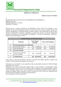 Tecnicall Engenharia Ltda - Secretaria de Aviação Civil