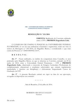 entre a UFF e PROMON Engenharia Ltda..