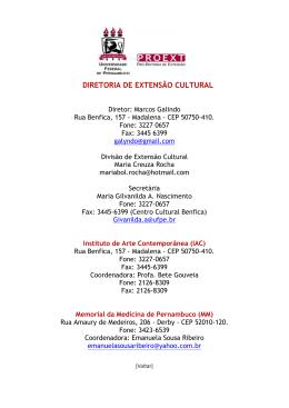 DIRETORIA DE EXTENSÃO CULTURAL
