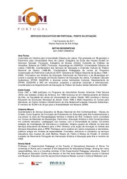 Notas biográficas - ICOM