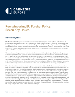 Reengineering EU Foreign Policy