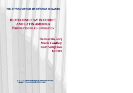 Biotechnology in Europe and Latin America