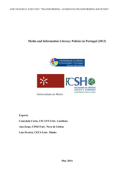 Media and Information Literacy Policies in Portugal (2013)