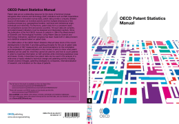 OECD Patent Statistics Manual - United Nations Statistics Division