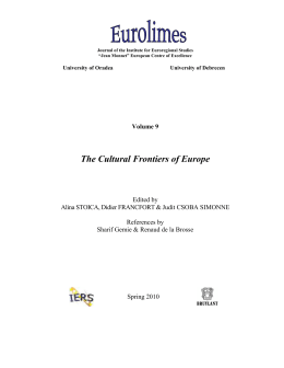 The Cultural Frontiers of Europe - the Institute for Euroregional Studies