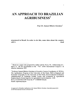 an approach to brazilian agribusiness 1