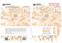 2014 World Drug Report - United Nations Office on Drugs and Crime