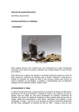 CAFEZINHO - Casa Guilherme de Almeida