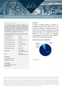 Maio de 2014 - SP Downtown Fundo de Investimento Imobiliário
