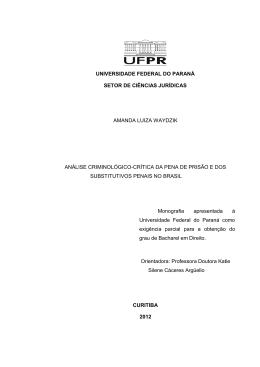 universidade federal do paraná setor de ciências jurídicas amanda