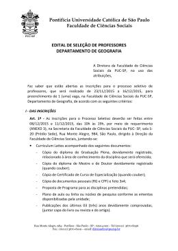 Pontifícia Universidade Católica de São Paulo Faculdade - PUC-SP