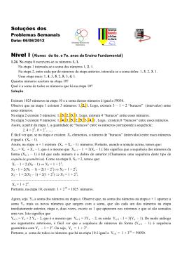 Solução Problema Semanal XXIV