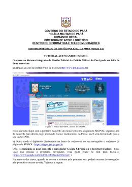 Tutorial acessando o SIGPOL - Proxy da Polícia Militar do Pará!