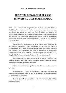 trt 2 tem defasagem de 2.255 servidores e 198 magistrados